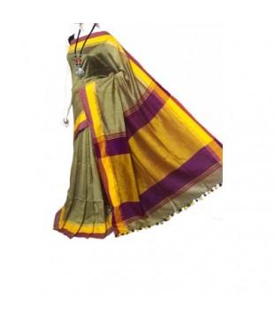 Cotton Silk Tassels Bengal Tant Handloom Saree