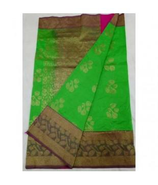 Semi Katan Silk Zari Worked Banarasi Handloom Saree