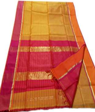 Cotton Silk Maheshwari Handloom Saree