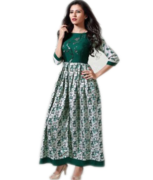 Cotton Digital Printed Anarkali Kurta