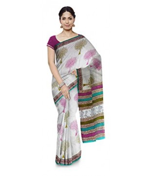 Cotton Hand Block Printed Saree