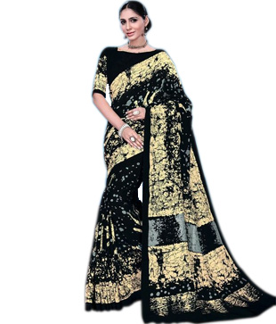 Tussur Silk Printed Saree