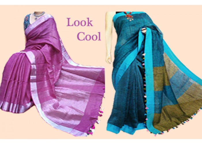 Khadhi and Linen Sarees