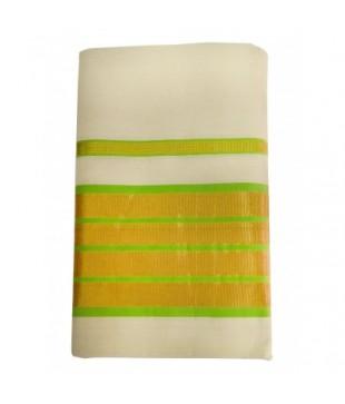 Cotton Kambikettu Designed Kasavu Handloom Saree
