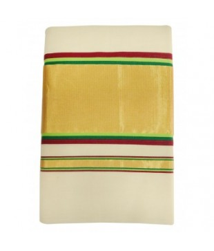 Cotton Adachukettu Designed Kasavu Handloom Saree