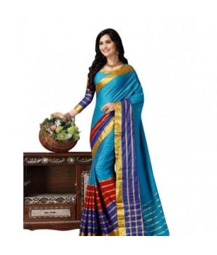 Cotton Silk Zari Bordered Saree