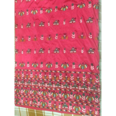Vidya Rose Art Dupion Silk Embroidered Saree