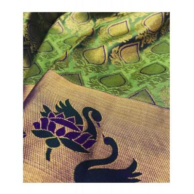 Saigje Green Silk Kanchipuram Handloom Saree