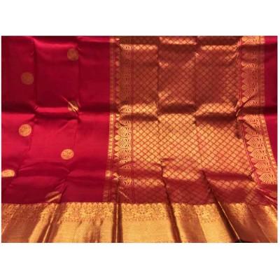 Saigje Red Silk Kanchipuram Handloom Saree
