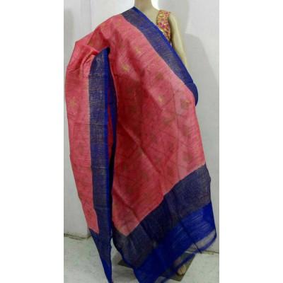 Soummya Creation Rose Dupion Silk Banarasi Handloom Duppatta