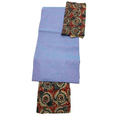 Lakshmi Silks Blue Kalamkari Un-Stitched Dress Material