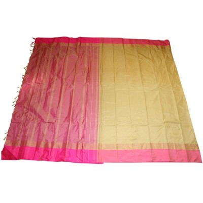 MC Trendz Mustard Art Silk Arani Pattu Saree