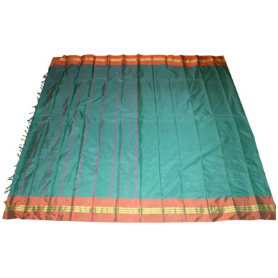MC Trendz Blue Art Silk Arani Pattu Saree