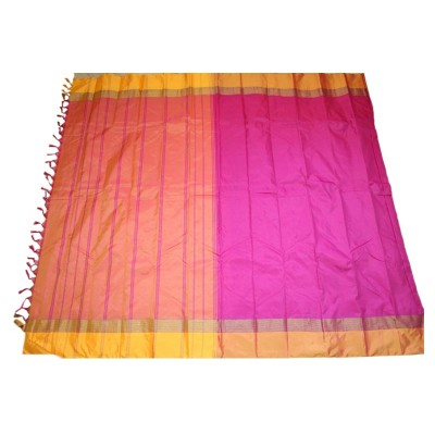 MC Trendz Magenta Art Silk Arani Pattu Saree