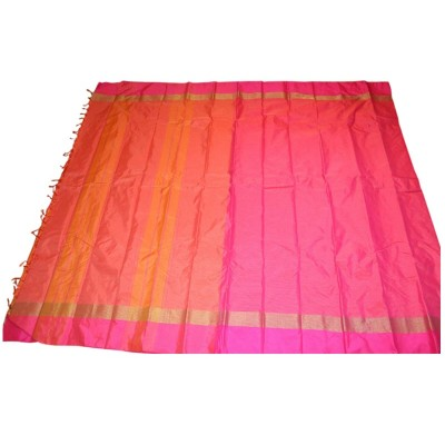 MC Trendz Pink Art Silk Arani Pattu Saree
