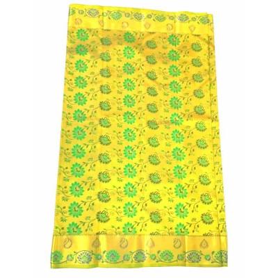Balaji Golden Yellow Silk Brocaded Saree