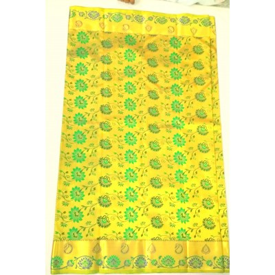 balaji silks soft silk mi001 Green Silk Brocaded Saree