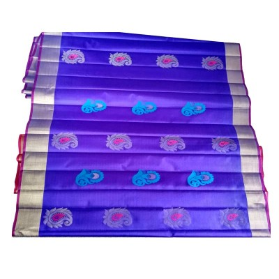 Balaji Violet Pure Silk Butta Designed Uppada Handloom Saree