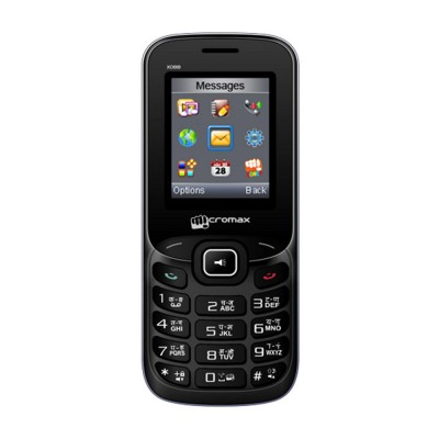 Micromax X088  Black & Silver   Feature Phone