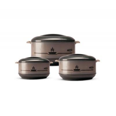 Milton Buffet JR Gift Set of 3 FG-THF-FTK-0010 (500 ml, 1 L, 1.5 L) Grey Polypropylene Casserole