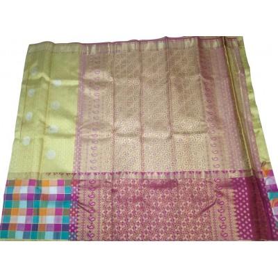 Kanchi Silk Gold Pure Silk Zari Worked Kanchipuram Handloom Saree