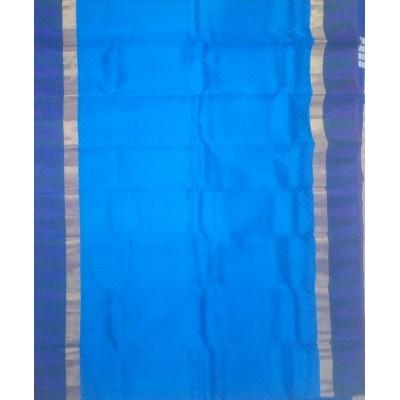 Kanchi Silk Blue Pure Silk Zari Worked Kanchipuram Handloom Saree
