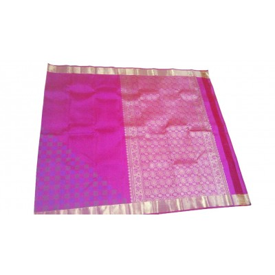 Kanchi Silk Pink Pure Silk Zari Worked Kanchipuram Handloom Saree