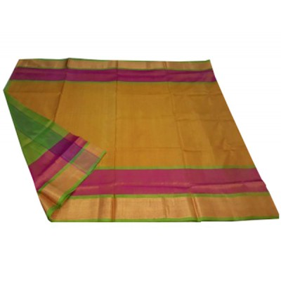 Veerfashions Yellow Pure Silk Uppada Handloom Saree