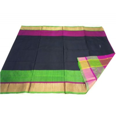 Veerfashions Black Pure Silk Uppada Handloom Saree
