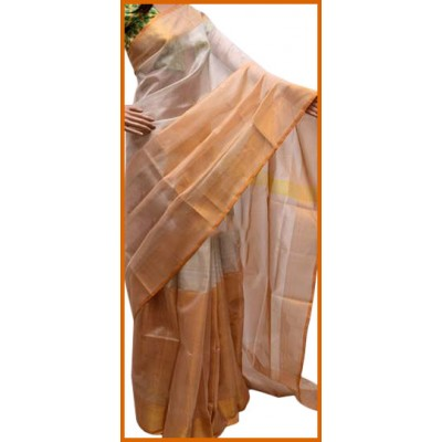 Veerfashions White Silk Uppada Handloom Saree