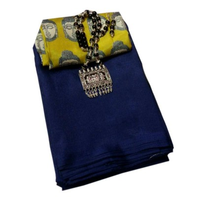 March8Collection Navy Blue Soft Silk Saree