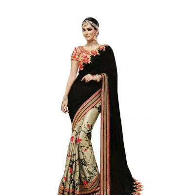 Aarchi Tex Multi Colour Fancy Cotton Printed Saree