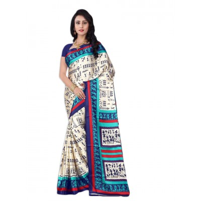 Aarchi Tex Multi Colour Japanese Crepe Printed Saree