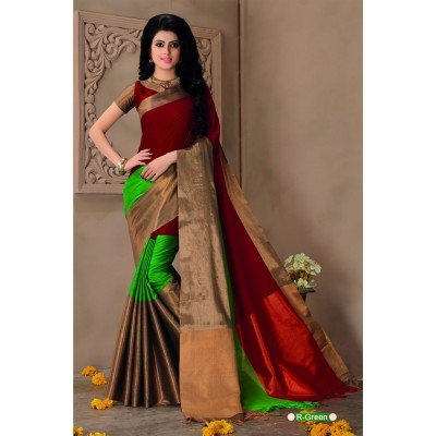 Aarchi Tex Maroon Cotton Saree