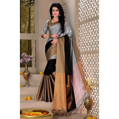 Aarchi Tex Ash Cotton Saree