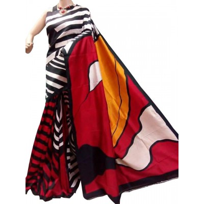 Anuskya Multi Colour Silk Printed Saree