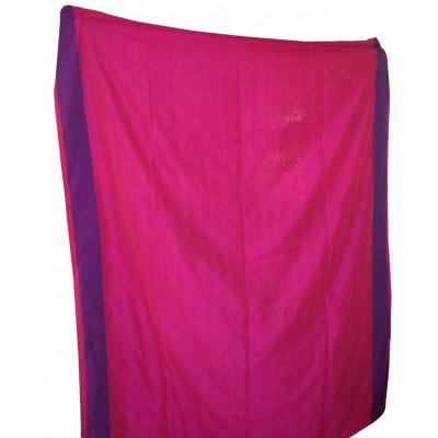 RAMDHANU CREATIONS Pink Cotton Pom Pom Khadi Handloom Saree