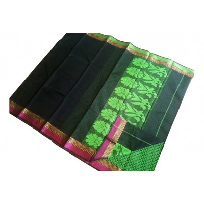 SB Black Kota Cotton Printed Saree
