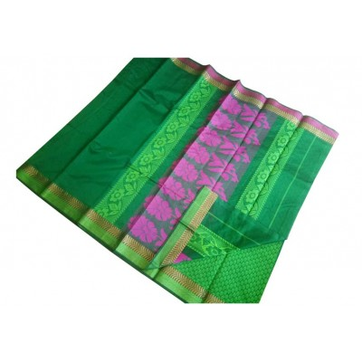 SB Green Kota Cotton Printed Saree