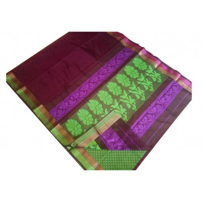 SB Magenta Kota Cotton Printed Saree