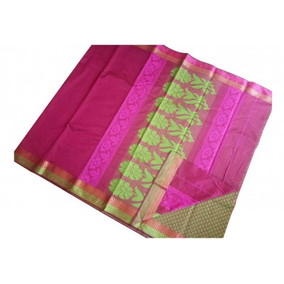 SB Pink Kota Cotton Printed Saree