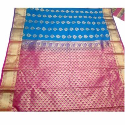 Tarangan Blue Silk Zari Worked Paithani Handloom Saree