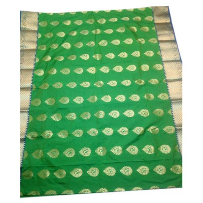 Tarangan Green Silk Zari Worked Paithani Handloom Saree