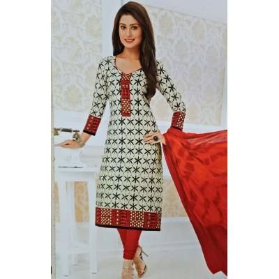 Rangoli Multi Colour Cotton Printed Un-Stitched Dress Material