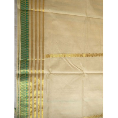 Tharakasree 2085 Cream Cotton Jacquard designed Devangapuram Handloom Saree