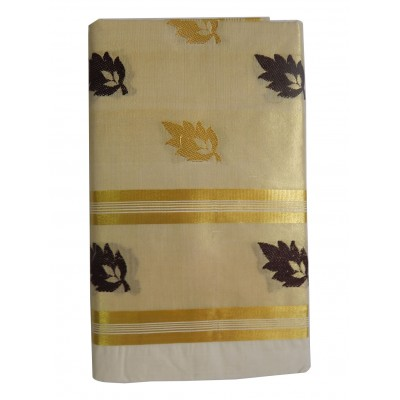 Tharakasree 5033 Cream Cotton Jacquard designed Devangapuram Handloom Saree