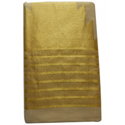 Tharakasree 2084 Light Gold Tissue Jacquard designed Devangapuram Handloom Saree