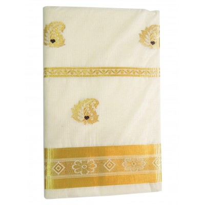 Tharakasree 2097 Cream Cotton Jacquard designed Devangapuram Handloom Saree