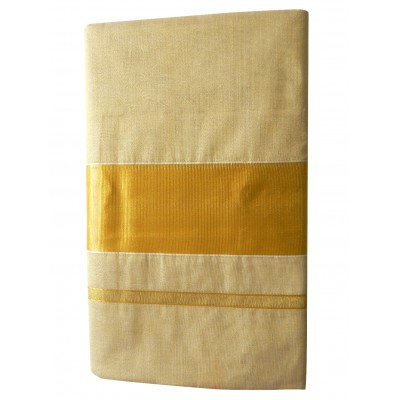 Tharakasree Light Gold Tissue Devangapuram Handloom Saree