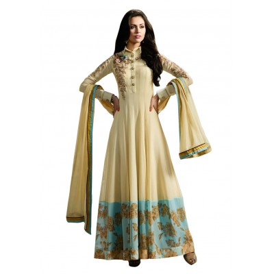 Ugrowth Collection Multi Colour Georgette Embroidered Un-Stitched Dress Material
